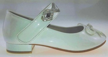 """HS008W, """"Gorgeous Collection"""" girls beautiful party shoes in white £7.95.  pk15....."""