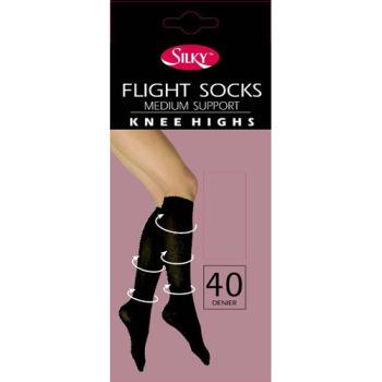 """""""Silky"""" brand flight socks medium support knee highs £1.20.  pk6..."""