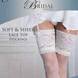 """Couture"" collection ladies soft & sheer lace top hold ups £2.60.  pk3..."