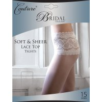 """Couture"" collection ladies soft & sheer lace top tights £2.75.  pk6..."