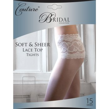 """""""Couture"""" collection ladies soft & sheer lace top tights £2.75.  pk6..."""