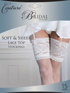 """""""Couture"""" collection ladies soft & sheer lace top stockings £3.90.  pk3..."""