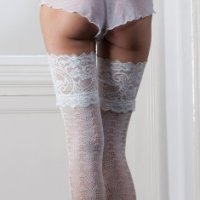 """Couture"" collection ladies lace design lace top hold ups £4.35.  pk3..."