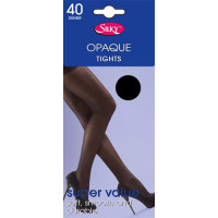 "Code:2924, ""Silky"" Brand 40 denier opaque tights  £0.75.  pk6.."