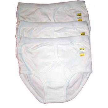 """RH306, """"Five Star"""" brand mens Interlock white Y Fronts In Larger Sizes....  1 dozen...."""