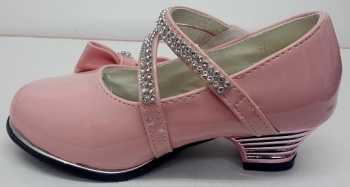 """Code:551-1G, """"Gorgeous Collection"""" Girls Party Pink Shoes £8.95.  pk6...."""