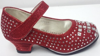 """Code:551-25 """"Gorgeous Collection"""" Girls Party Red Shoes £9.50.  pk6...."""