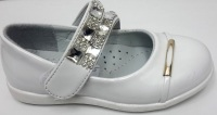 "Code:1-1, ""Gorgeous Collection"" Girls Party White Shoes £5.25.  pk12...."