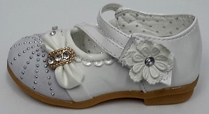 """Code:XB-1, """"Gorgeous Collection"""" Girls Party White Shoes £4.95.  pk12...."""