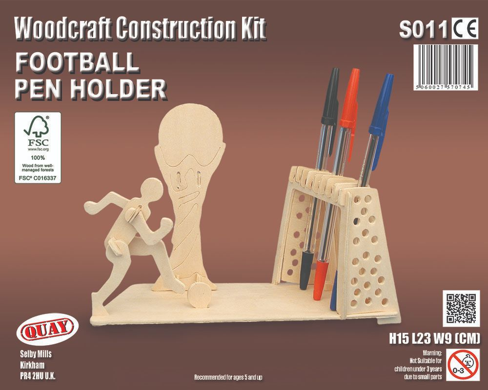 Football Pen Holder construction kit