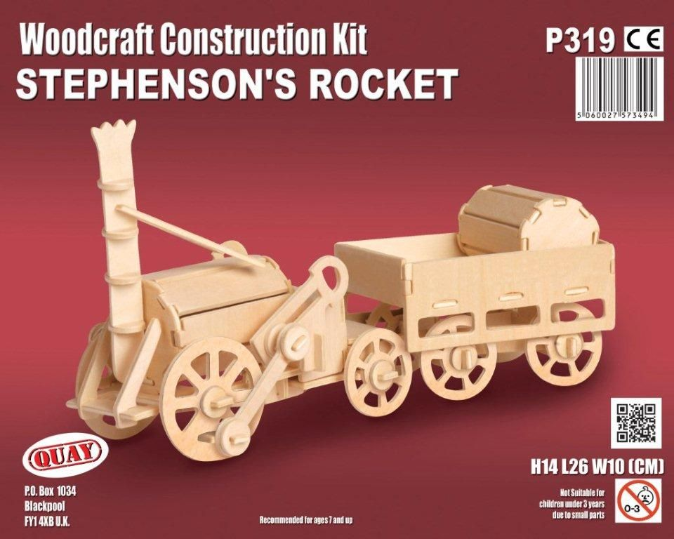 Stephensons Rocket Woodcraft Construction Kit