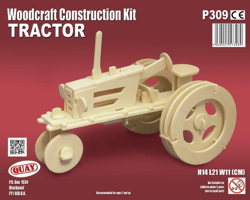 Tractor model Woodcraft Construction Kit