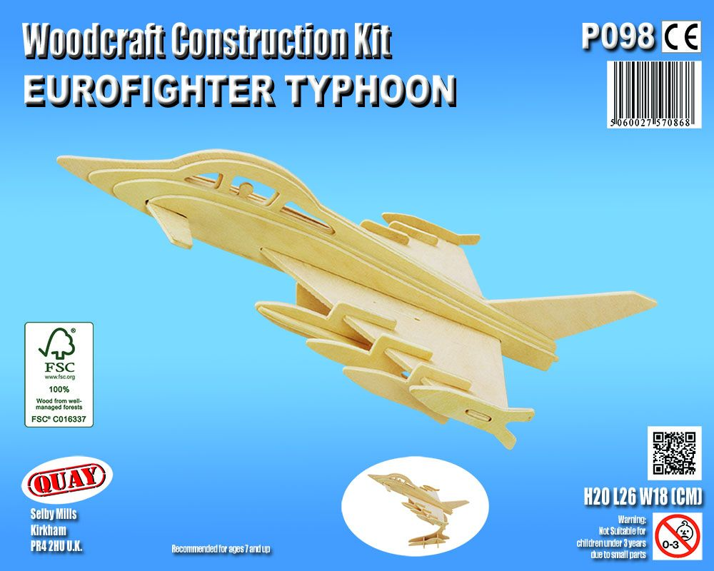 Eurofighter Typhoon Jet Plane model kit with stand