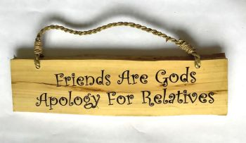 Coffee Wood Humorous Sign with rope hanger