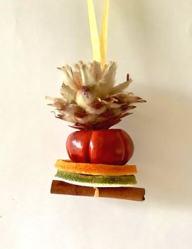Fruit and Cone Tree Decoration