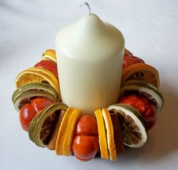 Candle with Fruit Ring