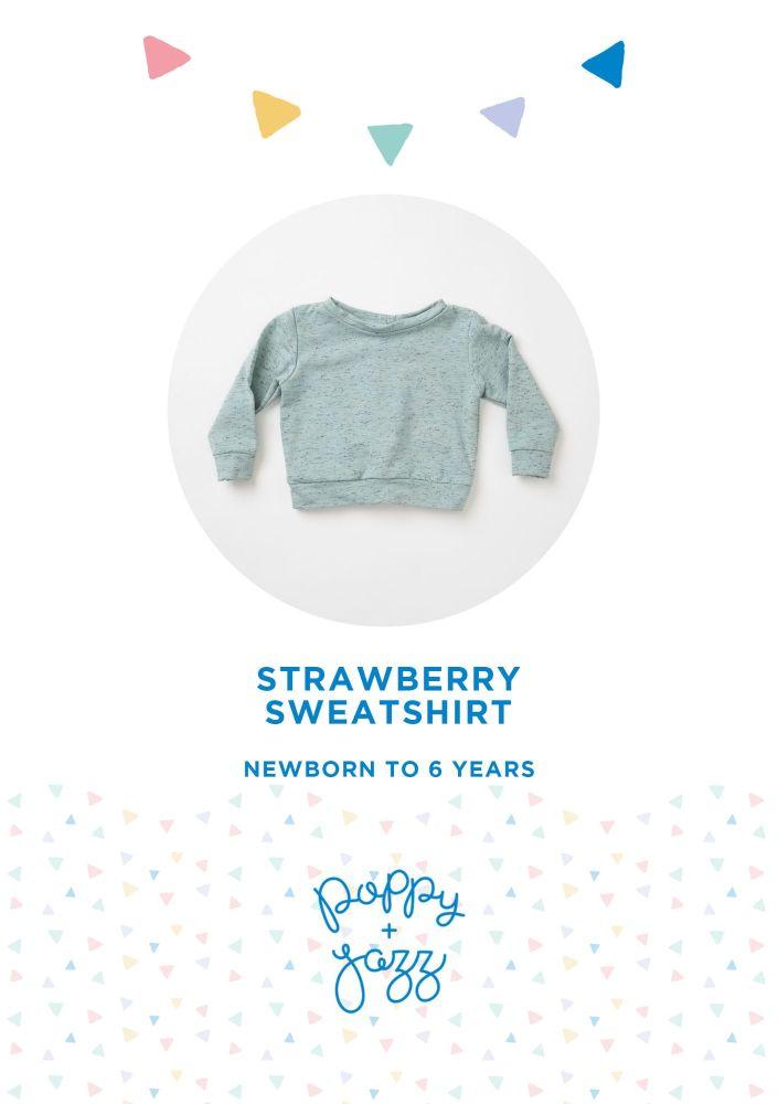Strawberry Sweatshirt - Poppy & Jazz