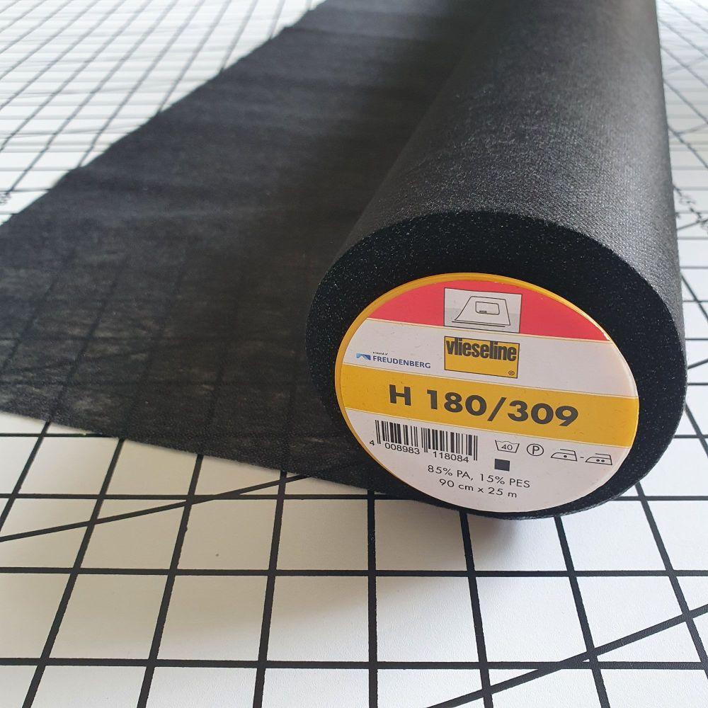 Lightweight Iron On Interfacing - Black