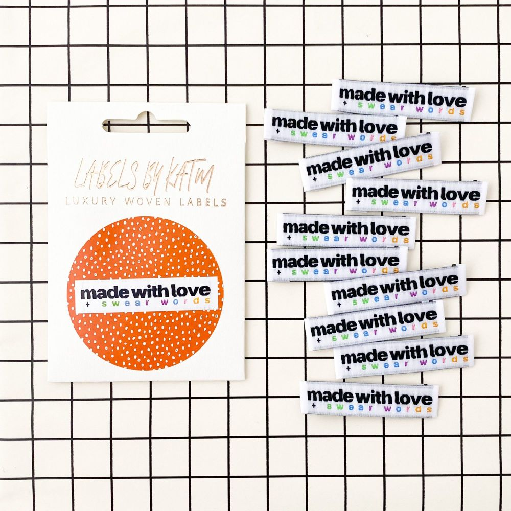 Made With Love + Swear Words - KATM Woven Labels