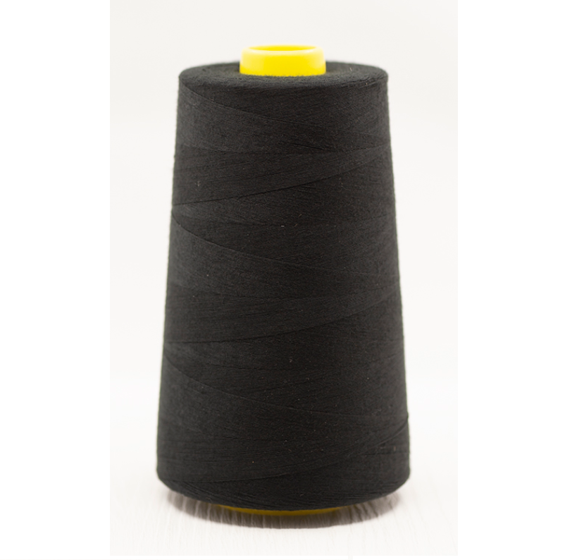 Black Overlocker Thread/Cone - 5000 yards