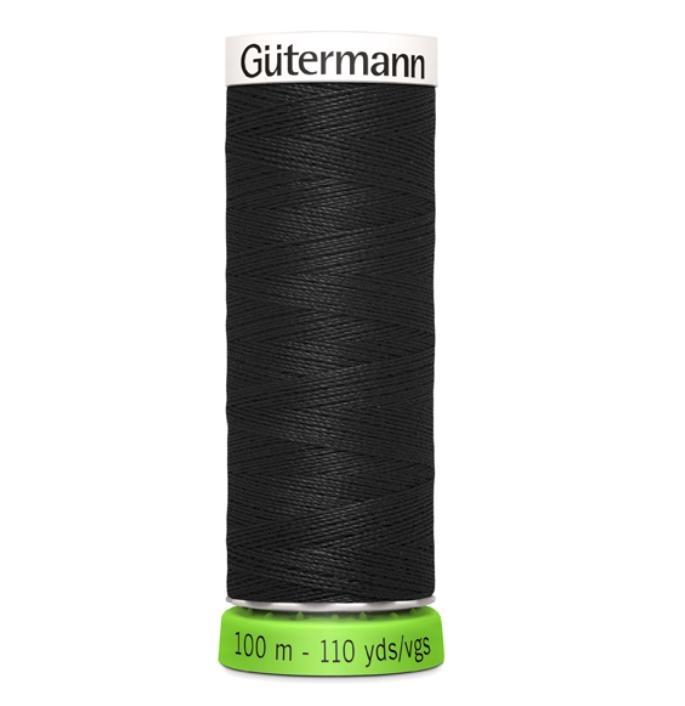 Gutermann rPET Sewing Thread - 100m - 000 Black