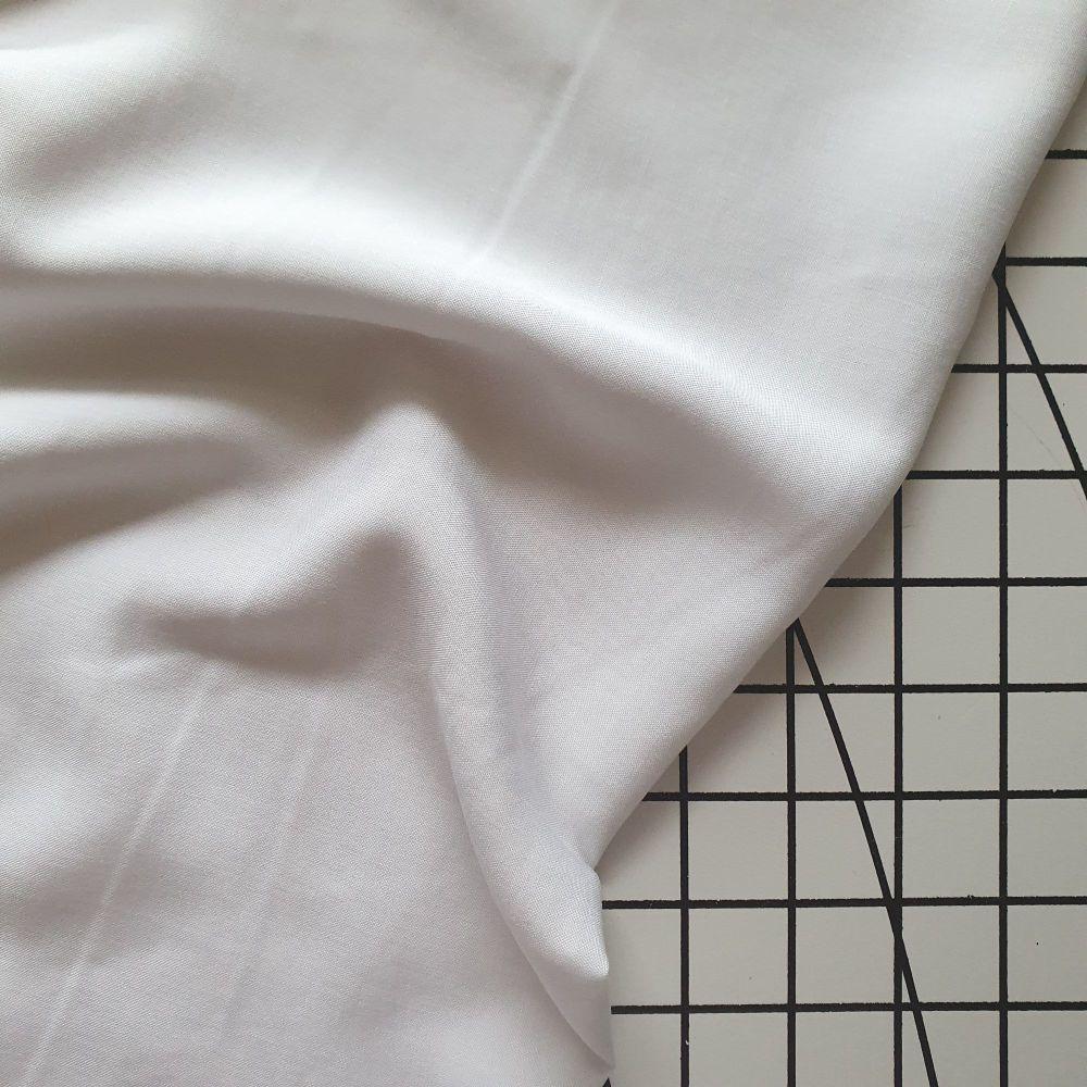 Plain Viscose - White
