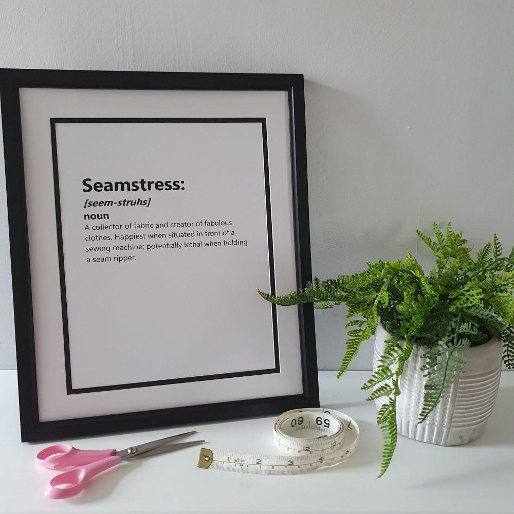 Seamstress - 12x10 Unframed Print