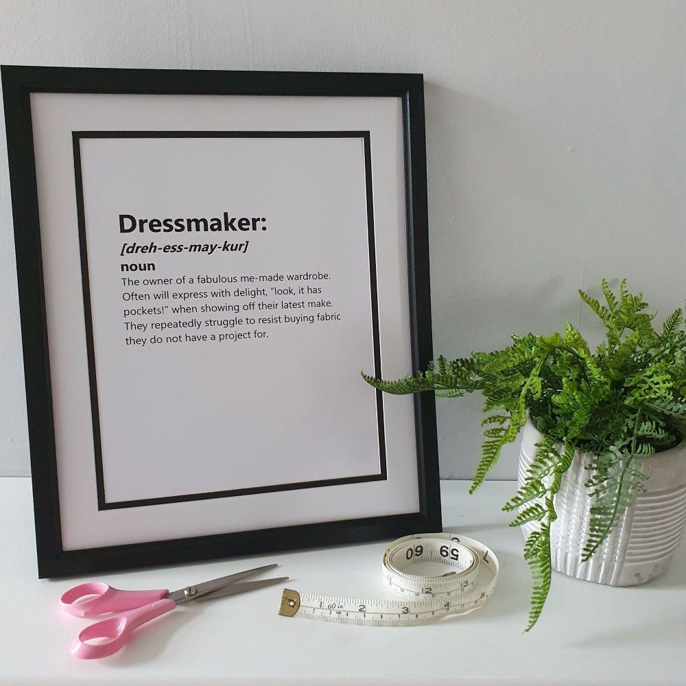Dressmaker - 12x10 Unframed Print