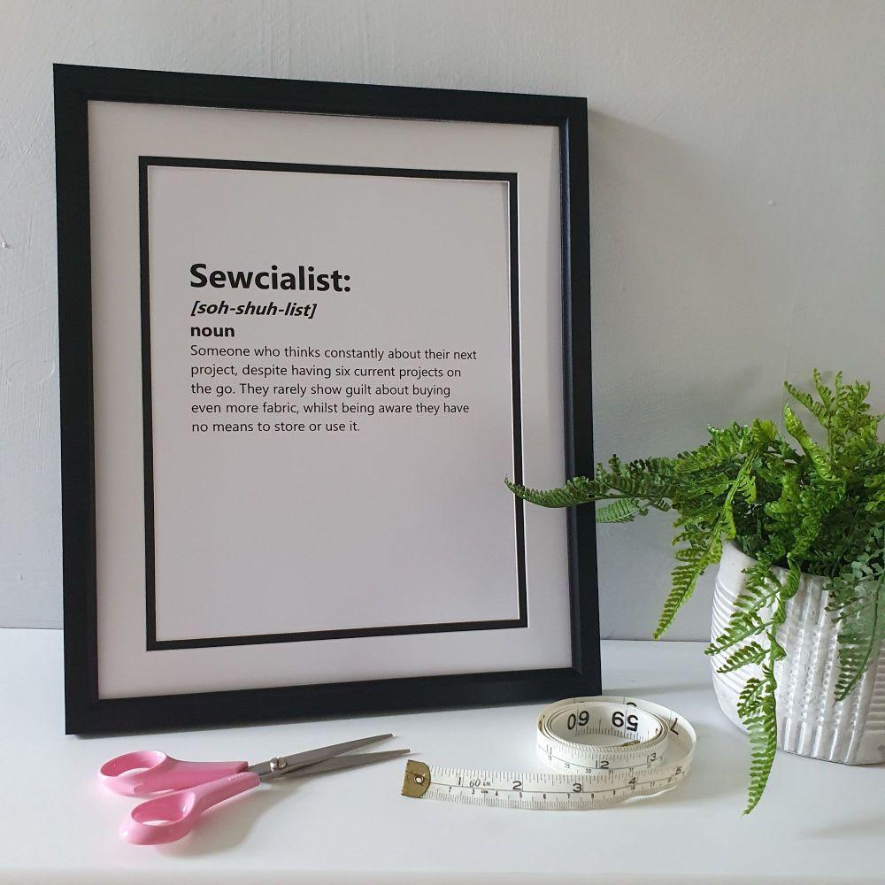 Sewcialist - 12x10 Print