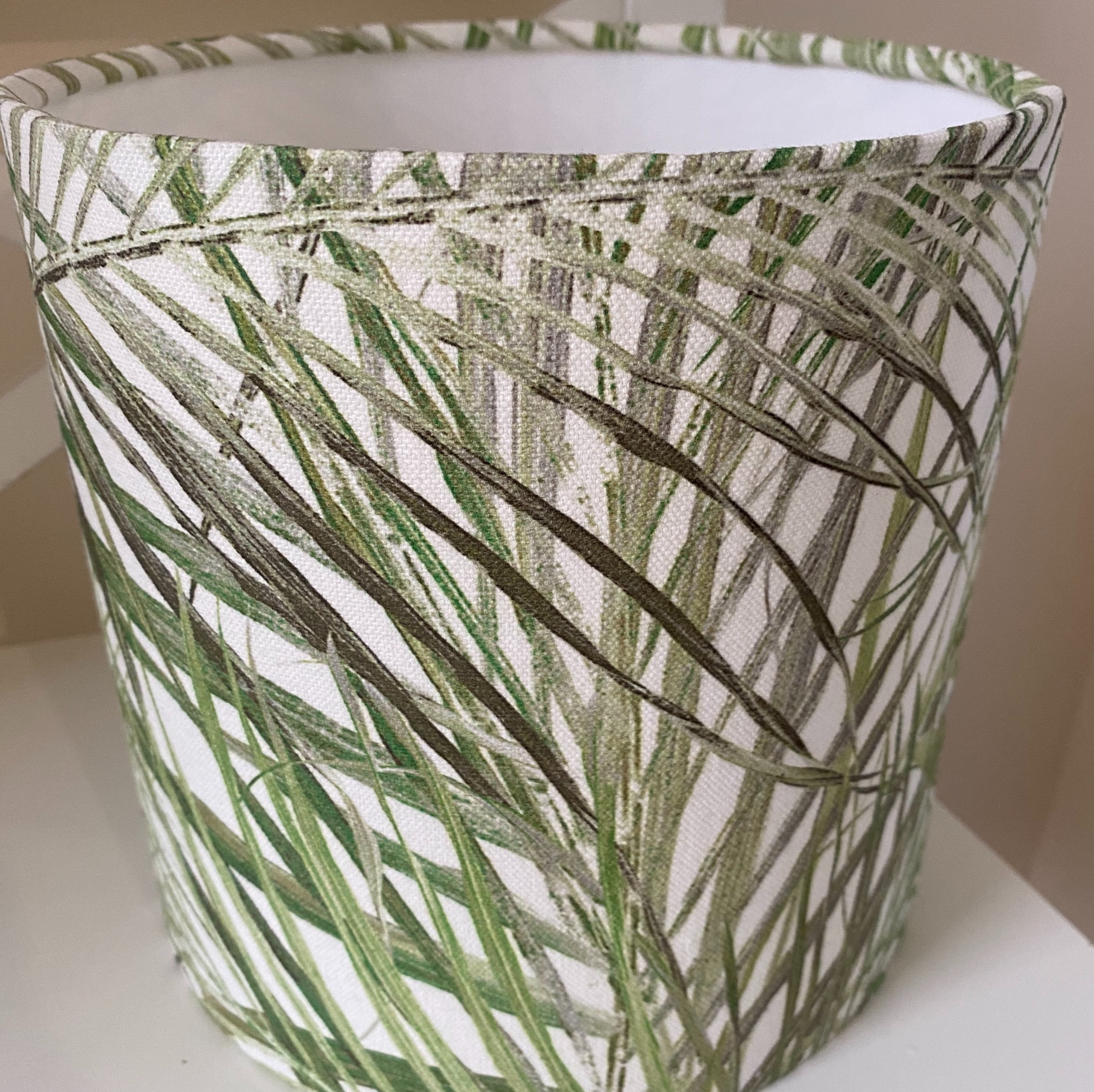 Green Palm Drum Lampshade