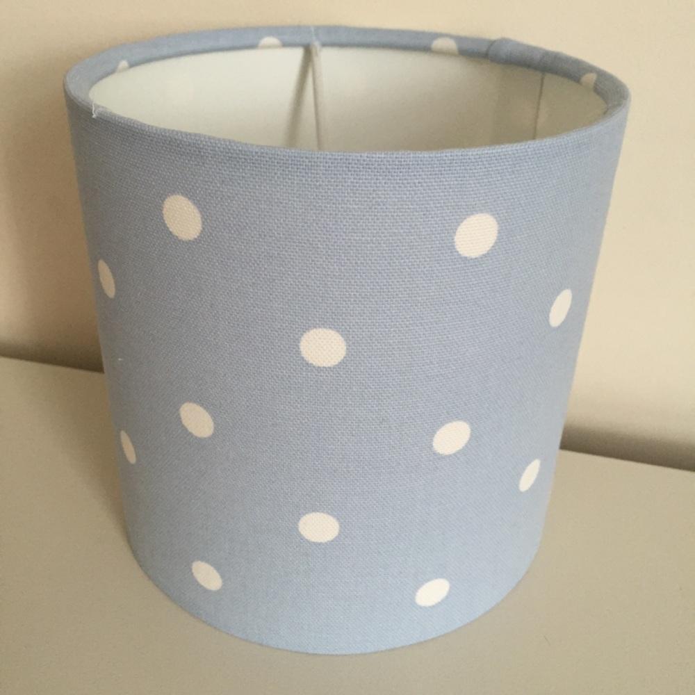 Blue Spot Spotty  Dot Dotty Lampshade