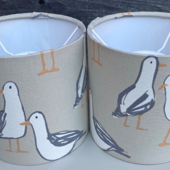 Taupe Seagull Lampshade