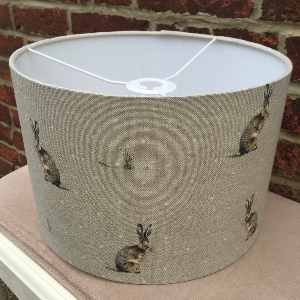 Woodland Country Hartley Hare Rabbit Beige Brown  Lampshade