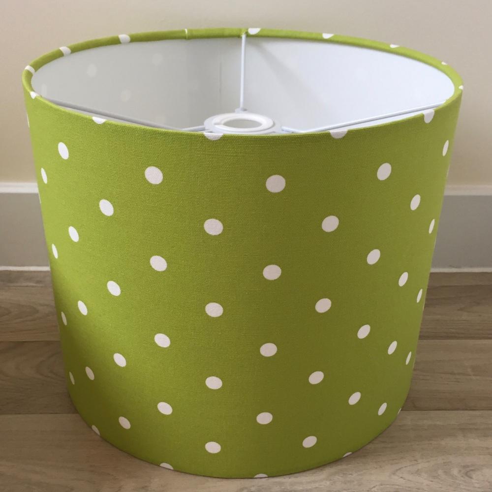 Lime Green Spot Spotty  Dot Dotty Lampshade