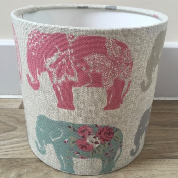 Elephant Pastel Pink Mint Green Lampshade