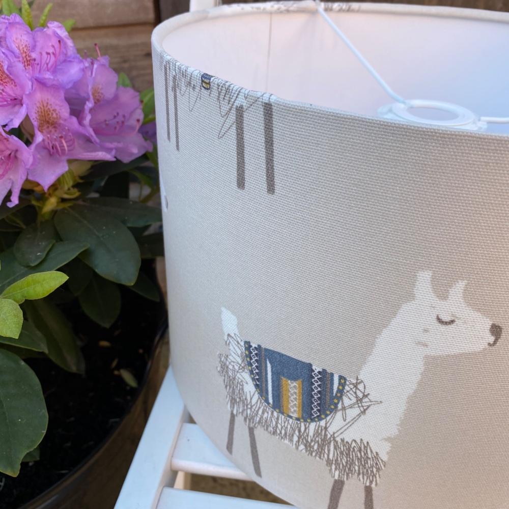 Alpaca llama Beige Kids Animal Lampshade