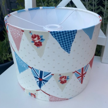 Bunting Lampshade - Red and Blue