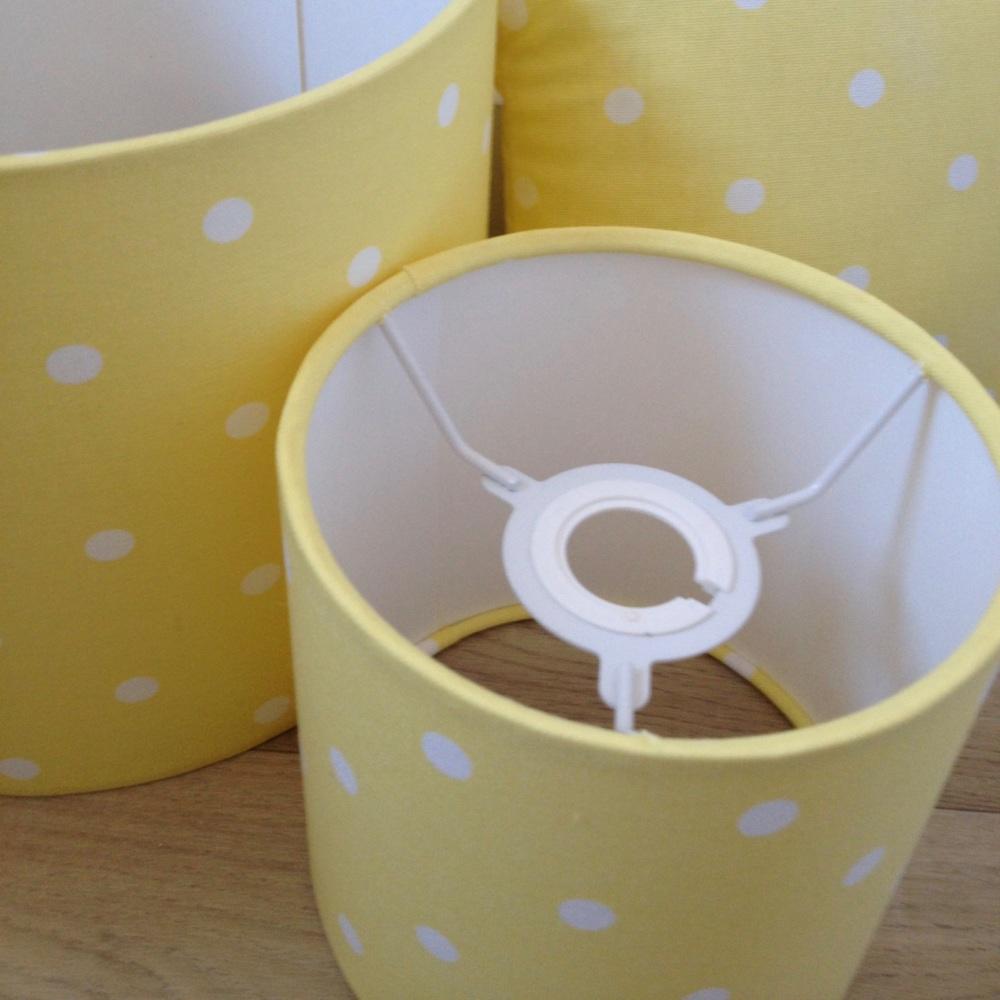 Yellow Spot Spotty  Dot Dotty Lampshade