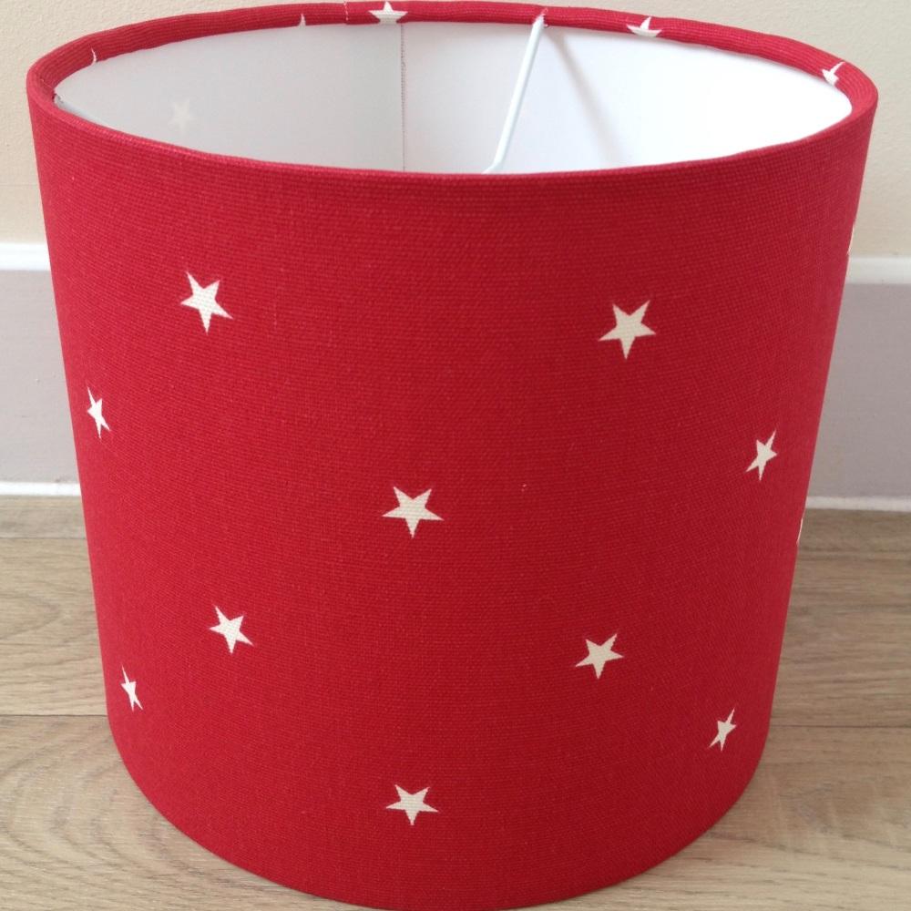 Handmade bespoke Etoile Red Star Stars Lampshade