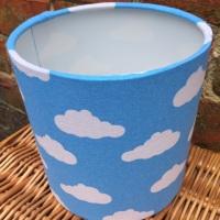 Handmade lampshade in  Blue Clouds Cloud  Kids Nursery fabric