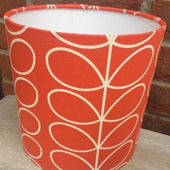 Bespoke Custom Handmade Tomato Red White Stem Scandinavian Geometric Lampshade