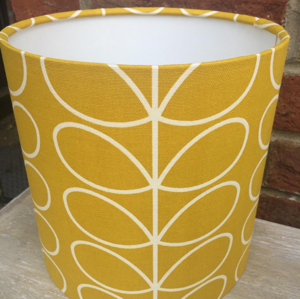 Mustard Yellow  White Stem Scandinavian Geometric Lampshade