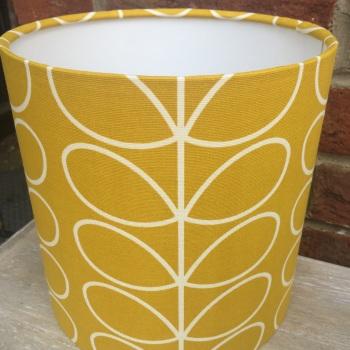 Bespoke Custom Handmade Mustard Yellow White Stem Scandinavian Geometric Lampshade