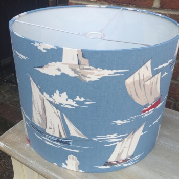 Blue Red Sailing Yacht Lighthouse Boat  Lampshade