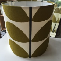 Bespoke Custom Handmade Olive Green Stem Scandinavian Geometric Leaf Lampshade