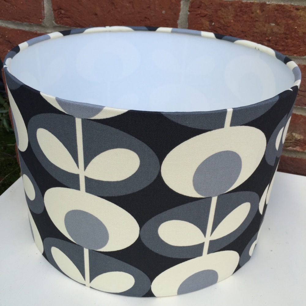 Grey  Oval Flower Scandinavian Geometric Retro Lampshade