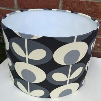 Grey Flower Scandinavian Geometric Retro Lampshade
