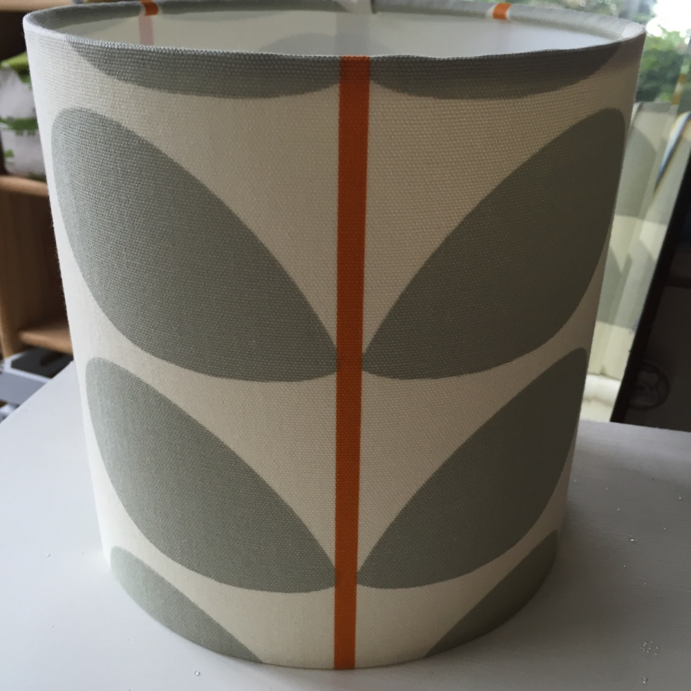 Grey Orange Stem Scandinavian Geometric Leaf Lampshade