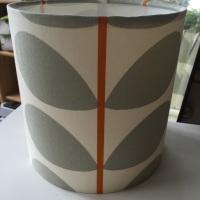 Grey Orange Stem Scandi Leaf Lampshade