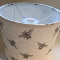 Handmade  Bees Lampshade - Natural Beige